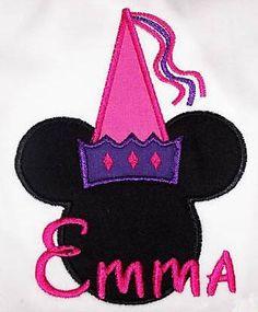 Princess Ears Applique Embroidery Design | Apex Embroidery Designs, Monogram Fonts & Alphabets