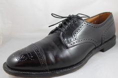 ALLEN EDMONDS Sanford Mens Black Leather Cap-Toe Oxford Dress Shoes 13 A #AllenEdmonds #Oxfords