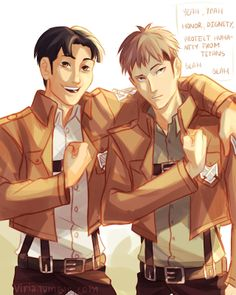 That's rough, buddy. --- Jean and Marco by Viria!!!