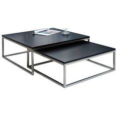 Set konferenčních stolků Glam, černý - 1