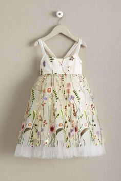 74bd454876e36 Girls Embroidered Vines Dress for Easter, special occasions, and parties.  Little Girl Outfits