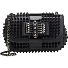 Christian Louboutin Sweety Charity Crossbody ($1,395) ❤ liked on Polyvore featuring bags, handbags, shoulder bags, black, crossbody, cross body shoulder bags, shoulder strap bag and crossbody shoulder bags