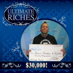 "Another winner! Congrats to Kevin Kemper of #Keokuk on winning $30,000! He bought his winning ""Ultimate Riches"" scratch ticket at his local Site Food Mart, 1201 Main St. Way to go, Kevin! #woohooforyou"