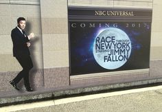 Race through New York Starring Jimmy Fallon is a new ride coming to Universal Studios Florida. Learn more about the Fallon ride. Universal Studios Rides, Universal Studios Florida, Jimmy Fallon, Orlando, New York, Racing, Fan, Lettering, Stars
