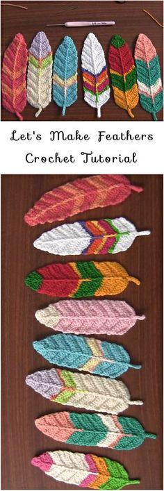 Reversible Feathers Crochet Tutorial