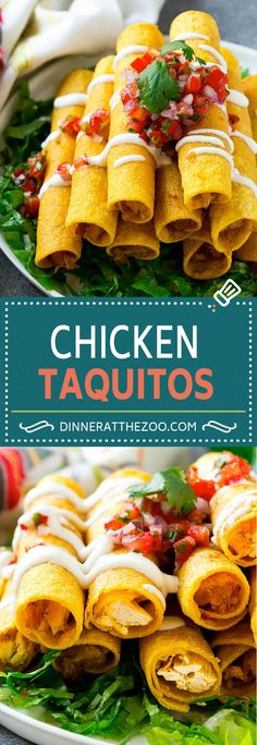 Chicken Taquitos Recipe | Baked Chicken Taquitos | Fried Chicken Taquitos | Mexican Appetizer | Chicken Tortillas