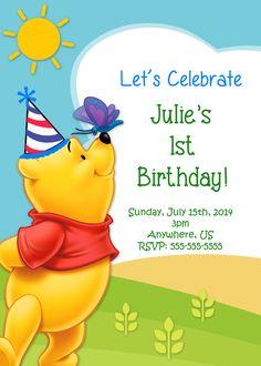 Winnie the Pooh Birthday Invitations - partyexpressinvitations