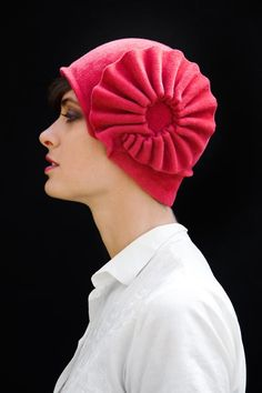 pink accordion cloche  made to order by yellowfield7 on Etsy, $450.00