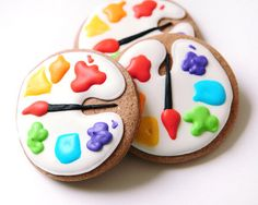 Artist's paint palette cakes for sale | Order art party themed cupcakes, cake pops & cookies online