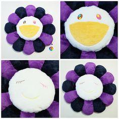 Kawaii Kaikaikiki Takashi Murakami Flower Pillow Cushion (Purple - 60cm) - Japan Lover Me Store