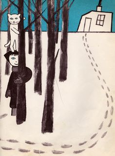 my vintage book collection (in blog form).: A Day of Winter - illustrated by Remy Charlip