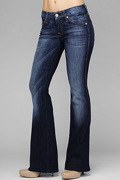 """7 For All Mankind, SEVN-6990 LEXIE PETITE """"A"""" POCKET Flare in Aggressive Siren, 7forallmankind.com"""