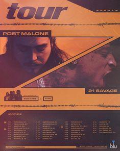 "21 Savage & Post Malone ""The Two RockStars"" Tour 2018 Cincinnati, Cleveland, Post Malone Lyrics, Post Malone Quotes, Date, Post Malone Tour, Portland, Vancouver, Detroit"