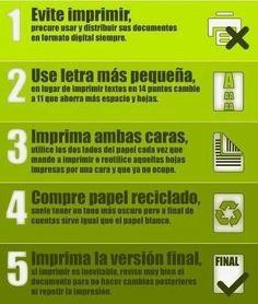 Al momento de imprimir, sigue estos consejos para poder reciclar. #eco #tips #thetaispa