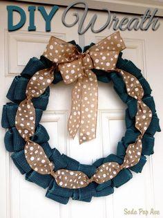 #DIY Spring Wreath tutorial #crafts