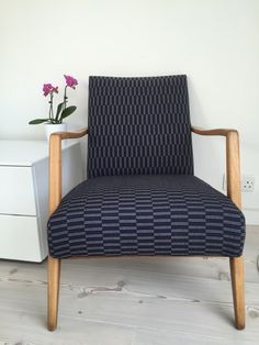 German Cocktail chair in Eleanor Pritchard Rowridge wool Cocktail Chair, Accent Chairs, German, Wool, Living Room, Furniture, Home Decor, Upholstered Chairs, Deutsch