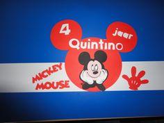 verjaardagsmuts mickey mouse 4 jarig kindje gemaakt door Karinvl (met cricut)