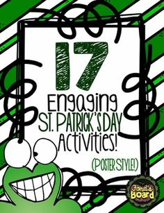 St. Patrick's Day {17 Engaging Activities for St. Patrick's Day - Poster Style!} --- FREE