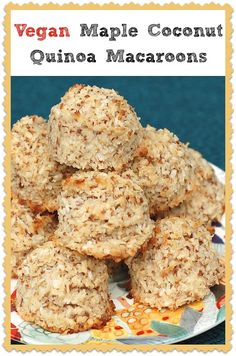 Vegan coconut macaroons with quinoa flour by Kathy Hester. #soyfree #glutenfree #vegan #nutfree