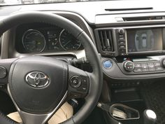 Not a big fan of RAV4s or Hybrids but I can appreciate the bird's eye view camera and a heated steering wheel. #Toyota #cars #RAV4 #car #Prius #Corolla