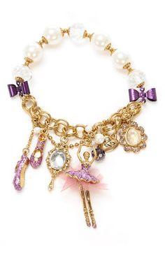 betsey johnson ballerina charm bracelet :)