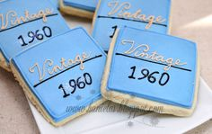 50th birthday party themes for men | Haniela's: ~Classy Cookies for 50th Birthday~