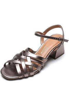 Sandália Vizzano Metalizada Bronze - Marca Vizzano Shoes, Products, Glow, Top Coat, Weather, Brazil, Zapatos, Shoes Outlet, Footwear