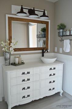 diy galvanized pipe vanity Google Search Bathroom sinks