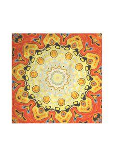 Mandala II Silk Scarf