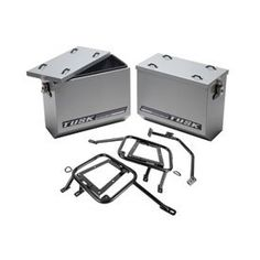 Tusk Aluminum Panniers With Pannier Racks Large Silver -Fits: KTM 1190 Adventure R 2014-2015 | Adventure Motorcycle Outpost