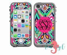 Monogrammed Lilly Pulitzer Inspired LifeProof Case by ShopEmilyG