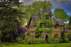 I think this is an English Tudor home....I love it.