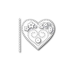 Simon Says Stamp PLUSH CHARMED HEART Wafer Dies S377 Spring Plush Preview Image