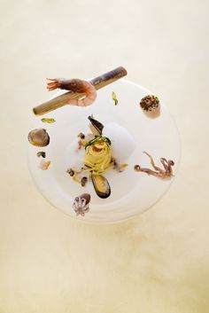 Sea foam dish@Le Cinq