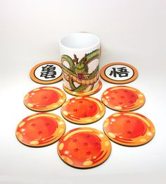 What would you like to drink? I have anything you wish. Shenron Mug not included 8 piece set include 7 dragon balls plus 1 extra symbol. \\