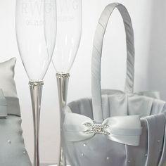 Platinum By Design Flower Girl Basket - #CenterofAttention #FlowerGirl #Basket