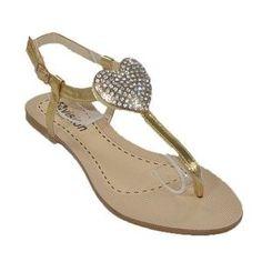 Taşlı Düz Kadın Sandalet