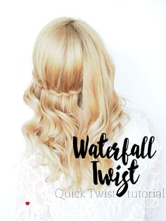 Hair Romance - Waterfall Twist hairstyle tutorial