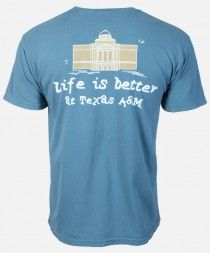Life is Better at Texas A&M T-shirt #AggieGifts #AggieStyle
