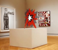 "Roy Lichtenstein, ""Standing Explosion (Red)"", (1966), Porcelain enamel on steel"