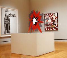 """Roy Lichtenstein, """"Standing Explosion (Red)"""", (1966), Porcelain enamel on steel"""
