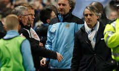 The 70-year-old United boss later accused Mancini of harassing officials throughout the title duel. Manchester United manager Sir Alex Ferguson accused Roberto Mancini of attempting to influence officials after a furious touchline bust-up with the Manchester City boss here Monday.    Ferguson and Mancini had to be separated during an explosive fin