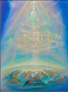Галерея 'Надземное'. Сергей Кузнецов : НОВЫЙ МИР Aura Colors, Esoteric Art, Templer, Atlantis, 7 Chakras, New Earth, Visionary Art, Sacred Art, Psychedelic Art