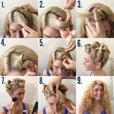 A whole crapload of no heat hair curling ideas