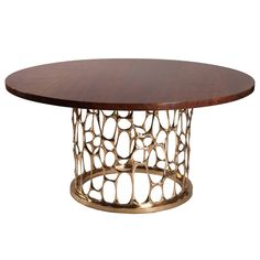 """""""Homage to Gaudi"""" Bronze Dining Table by Nick King   From a unique collection of antique and modern dining room tables at https://www.1stdibs.com/furniture/tables/dining-room-tables/"""
