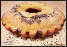 CIAMBELLA VARIEGATA PANNA E CACAO, CON E SENZA BIMBY RICETTA DI: Tiziana Nosdeo Ingredienti per uno stampo a ciambella da 24/26 cm: 250 g di farina 00