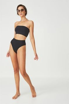 Longline Bandeau Bikini Top, BLACK Body Reference Poses, Human Reference, Pose Reference Photo, Female Reference, Drawing Poses, Gesture Drawing, Drawing Tips, Poses References, Figure Poses