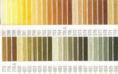 コスモ刺繍糸 25番 黄色系 ルシアン 国産刺繍糸 Color Pallets, Colour, Color Palettes, Color, Colors