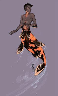 Stunning Koi-inspired Merman