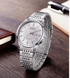 Men watches waterproof quartz stainless steel watche - Bracelets World